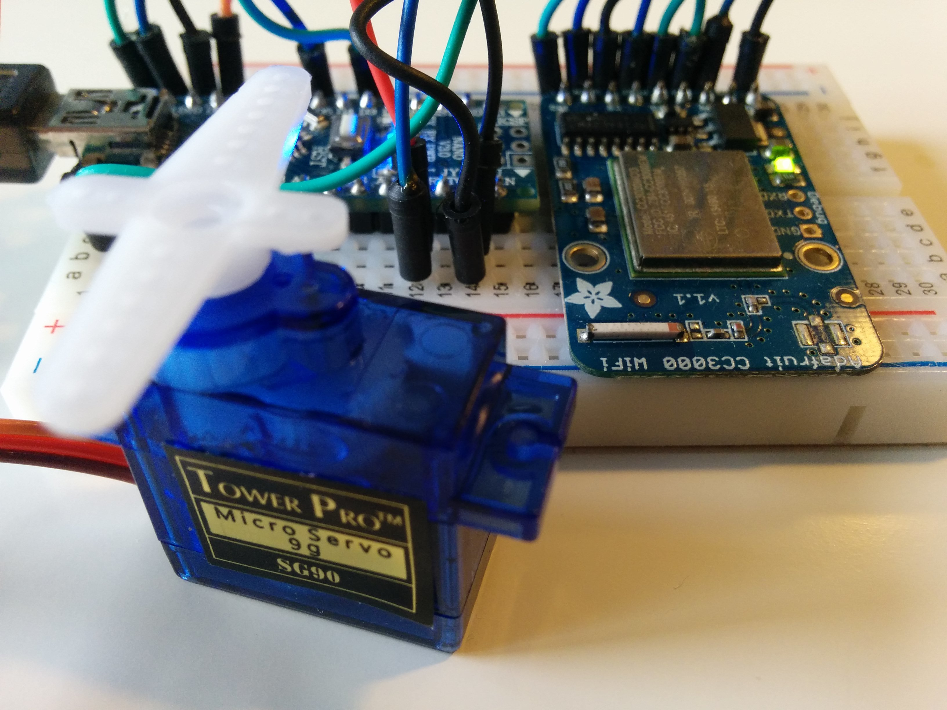 Remote Servo Control with Adafruit CC3000 - How-To - The Internet of